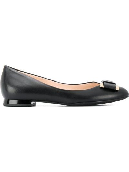 Туфли на каблуке без каблука кожаные Hogl