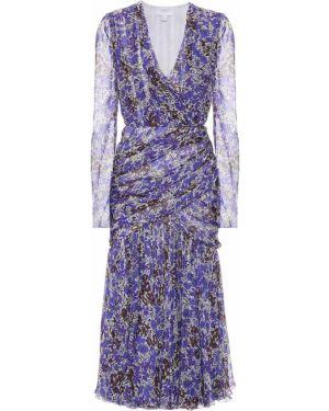 Платье миди с цветочным принтом шелковое Giambattista Valli