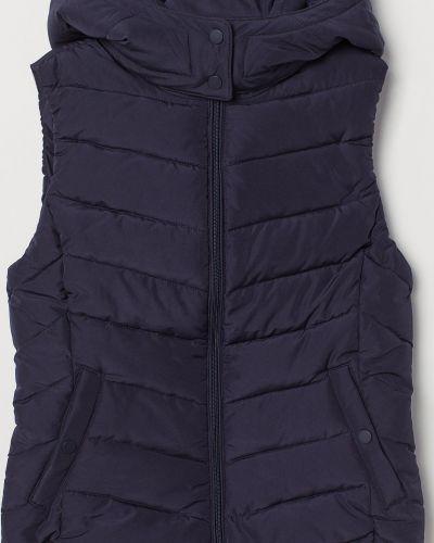 Темно-синяя теплая жилетка H&m