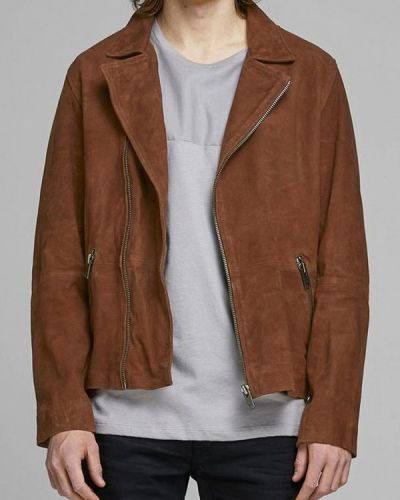 Кожаная куртка осенняя осенний Jack & Jones