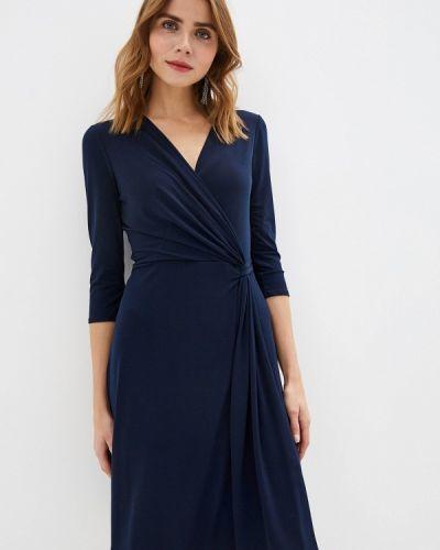 Повседневное платье осеннее синее Wallis