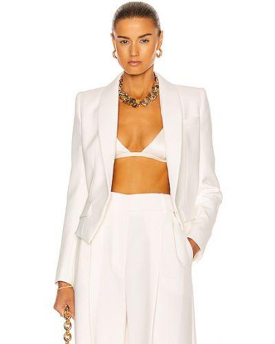 Деловой белый пиджак с карманами Alexandre Vauthier