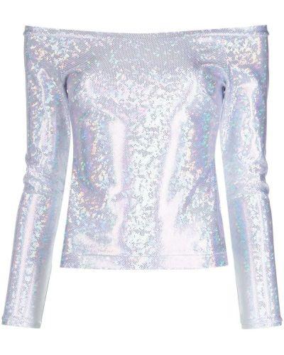 Серебряная открытая блузка Saks Potts