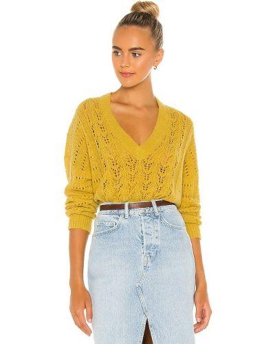 Облегченный текстильный желтый свитер Nation Ltd