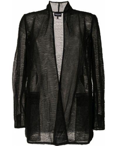 Черная куртка с карманами Giorgio Armani