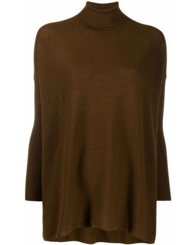 С рукавами кашемировый коричневый джемпер оверсайз Gentry Portofino