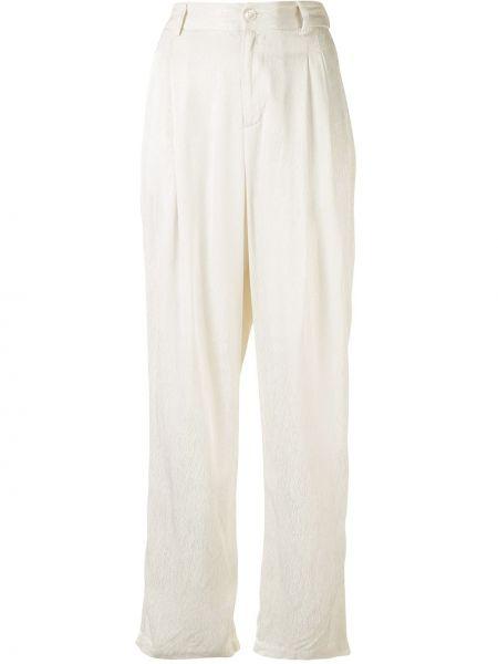 Брючные шелковые плиссированные брюки с карманами Raquel Allegra