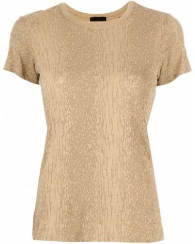T-shirt bawełniany krótki rękaw z printem Atm Anthony Thomas Melillo