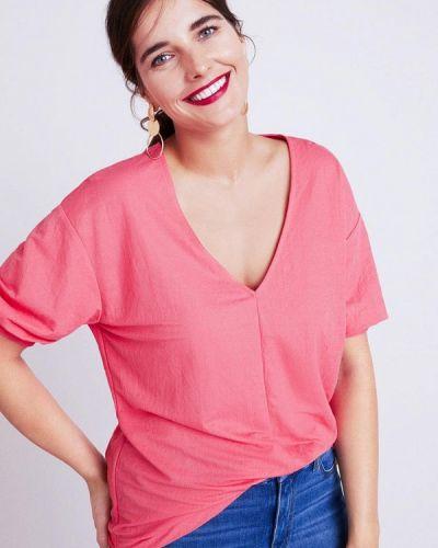 Красная футболка Violeta By Mango