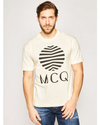 Pomarańczowy t-shirt Mcq Alexander Mcqueen
