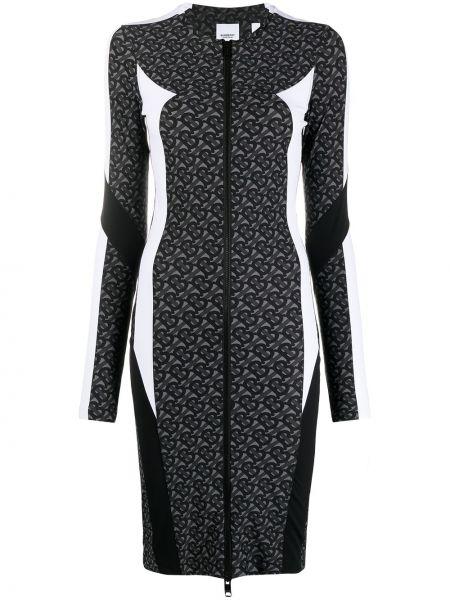 Платье макси длинное - серое Burberry
