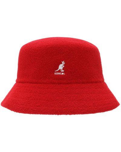 Мягкая красная шапка с вышивкой Kangol