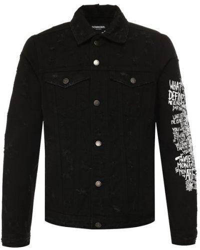 Джинсовая куртка черная Dom Rebel