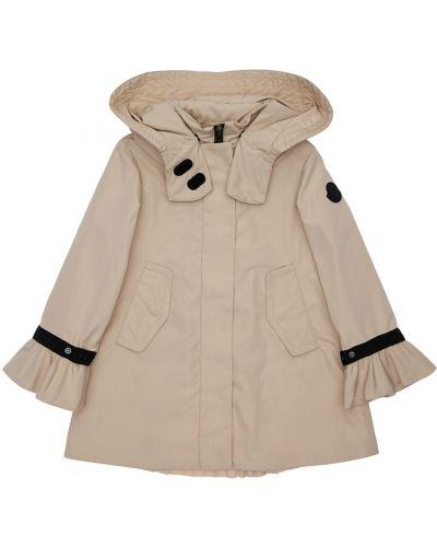 Nylon beżowy kurtka z kapturem Moncler