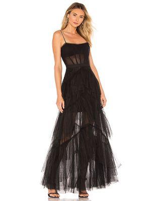 Czarna sukienka tiulowa z siateczką Bcbgmaxazria
