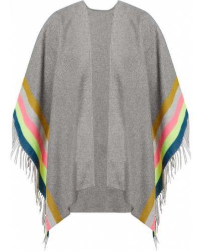 Bawełna bawełna ponczo z frędzlami na paskach Fraas