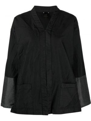 Прямая черная куртка со вставками Comme Des Garçons Comme Des Garçons