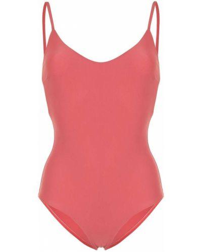 Красный пляжный классический купальник с шортами с вырезом Matteau