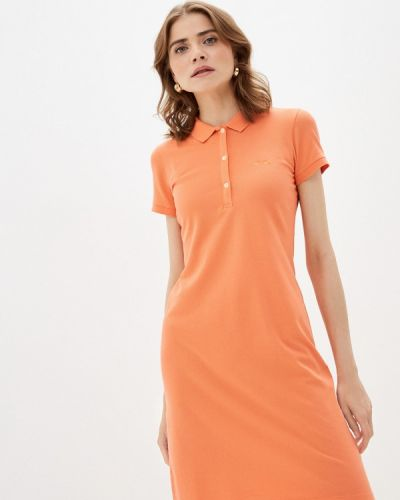 Оранжевое платье Galvanni