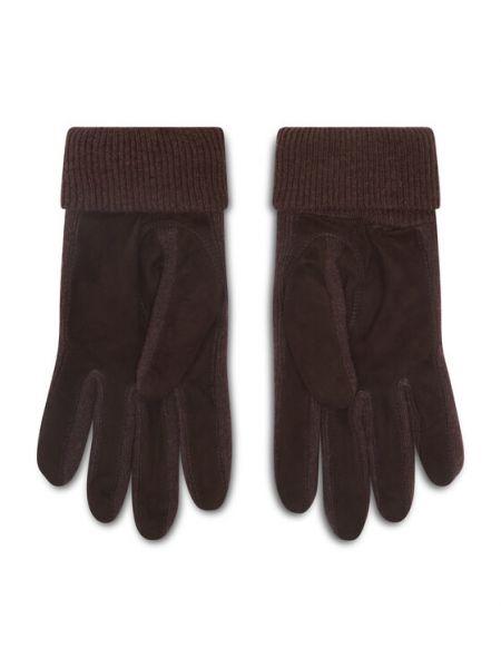 Brązowe rękawiczki zamszowe Polo Ralph Lauren