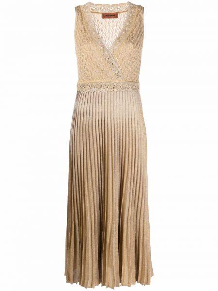 Шелковое платье - бежевое Missoni
