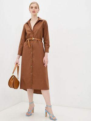 Коричневое платье-рубашка Rinascimento