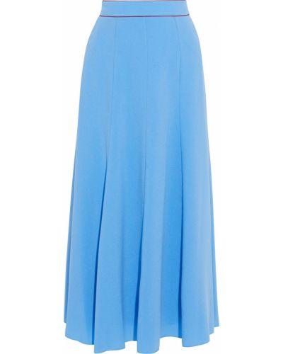 Niebieska spódnica midi rozkloszowana Roksanda