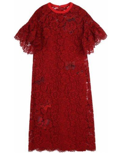 Платье миди с бисером шелковое Valentino