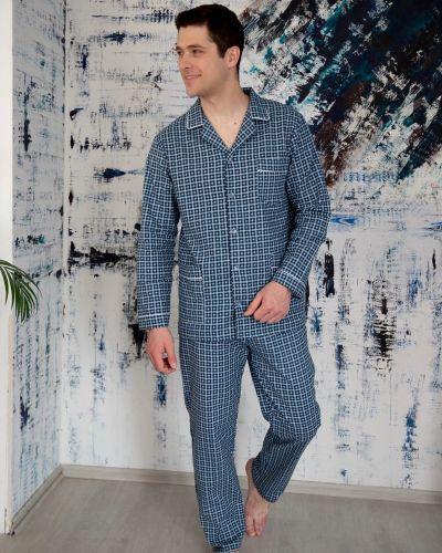 Фланелевая пижама с брюками на пуговицах с карманами Lika Dress