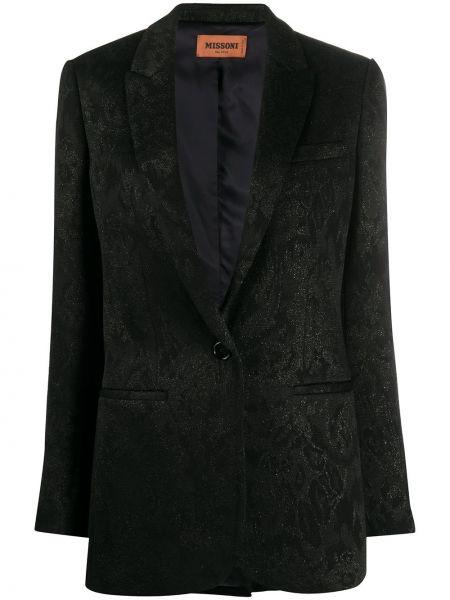 Черный пиджак с карманами на пуговицах Missoni