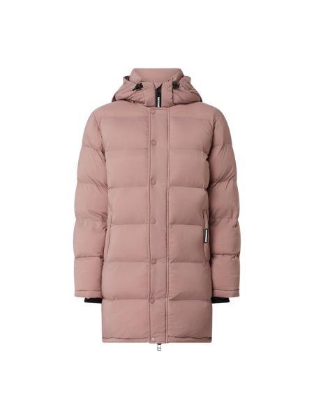 Różowa kurtka pikowana z nylonu Khujo