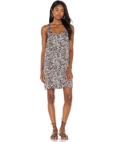 Коричневое платье мини сафари из вискозы Nation Ltd