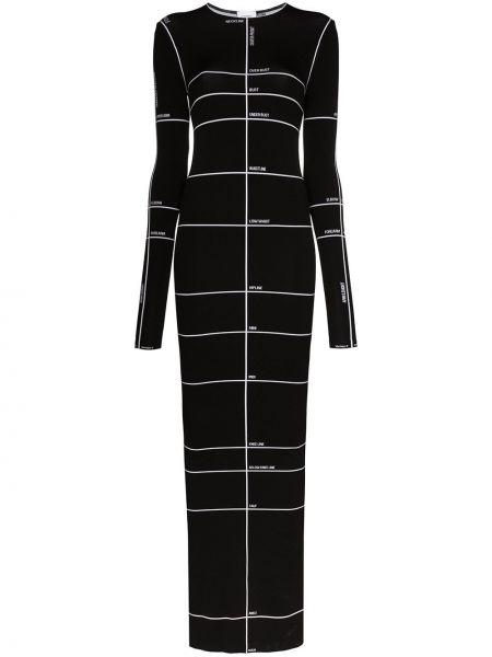 Платье макси черное приталенное Vetements