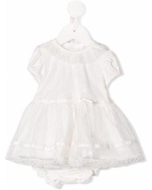 Sukienka mini rozkloszowana koronkowa krótki rękaw Aletta