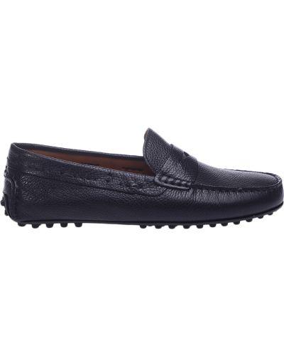 Кожаные мокасины - черные Trussardi Jeans