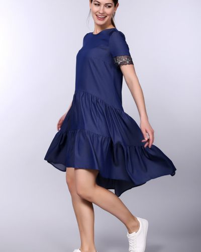 Платье из вискозы синее Argent