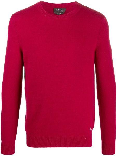 Красный шерстяной вязаный длинный свитер A.p.c.