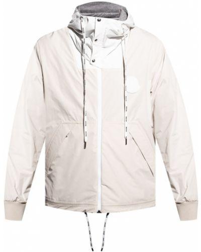 Biała kurtka z kapturem bez rękawów Moncler