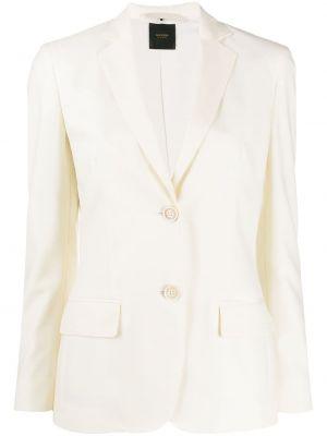 Приталенный кожаный пиджак с карманами Agnona