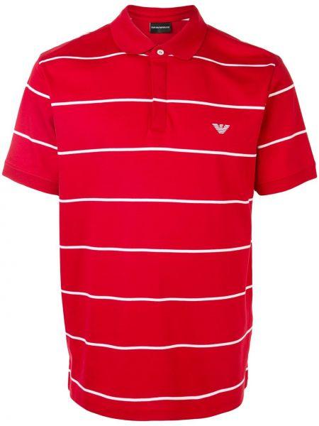 Koszula krótkie z krótkim rękawem klasyczna w paski Emporio Armani