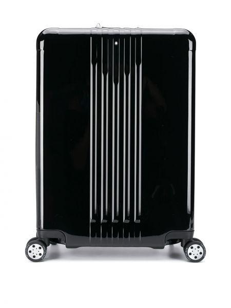 Skórzany czarny walizka Montblanc