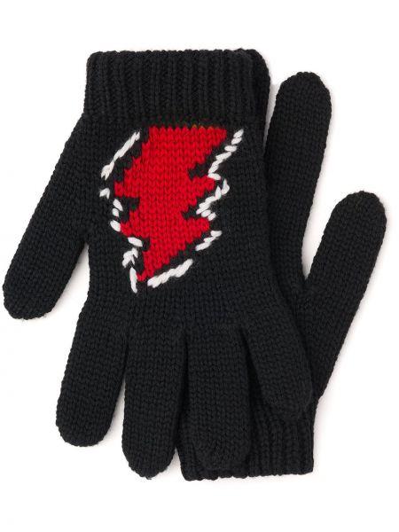 Rękawiczki wełniane - białe Prada