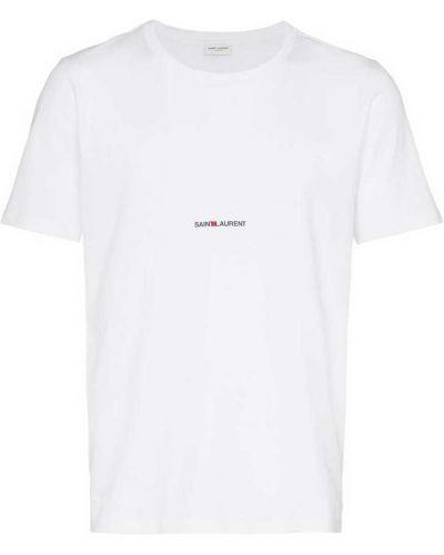 Klasyczna koszula krótki rękaw bawełniana Saint Laurent