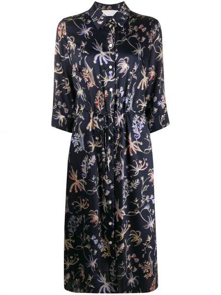 Платье миди на пуговицах с цветочным принтом Peter Pilotto