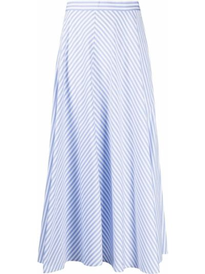 Хлопковая с завышенной талией белая юбка Polo Ralph Lauren