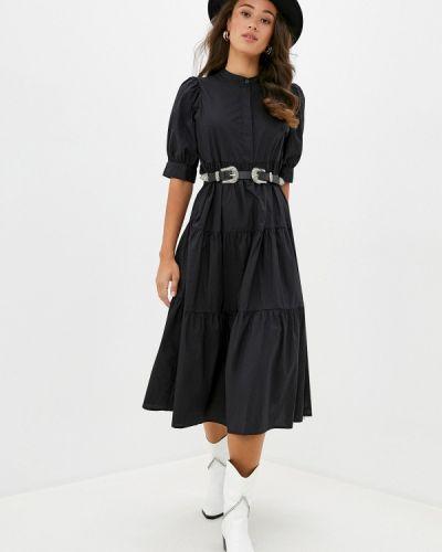 Черное прямое платье Sela