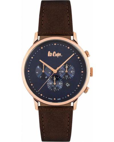 Синие с ремешком кожаные часы на кожаном ремешке Lee Cooper