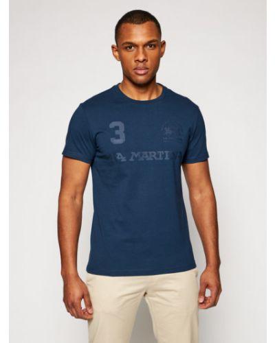 T-shirt granatowa La Martina
