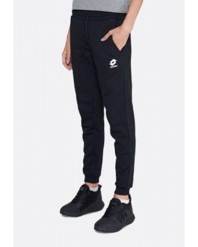 Свободные черные спортивные брюки свободного кроя Lotto