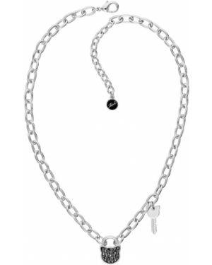 Naszyjnik metal kryształ Karl Lagerfeld